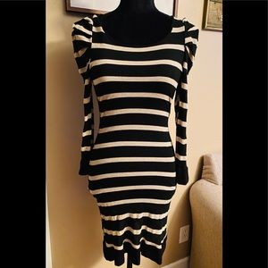 Forever 21 Black, Tan, Gold Dress Small